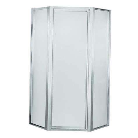 Sterling Neo Angle Shower Door Sterling Deluxe 24 3 8 In X 72 In Frameless Neo Angle Shower Door In Silver 2200a 36s The
