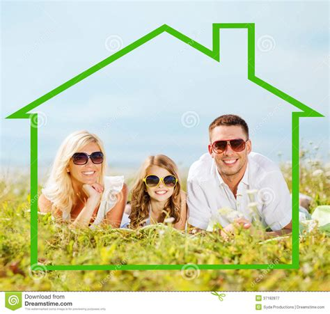 happy family in sunglasses outdoors royalty free stock