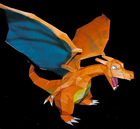 How To Make A Paper Charizard - papercraft charizard papercraft