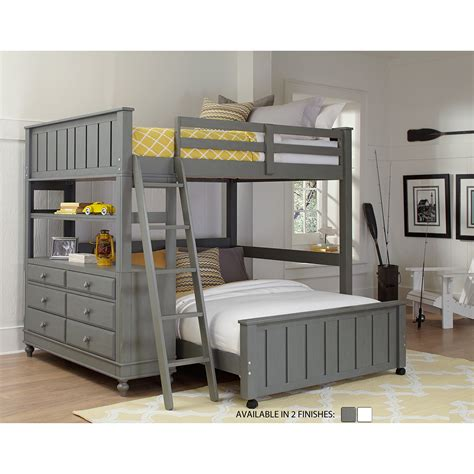 house loft bed ne kids lake house loft with full size lower bed reviews