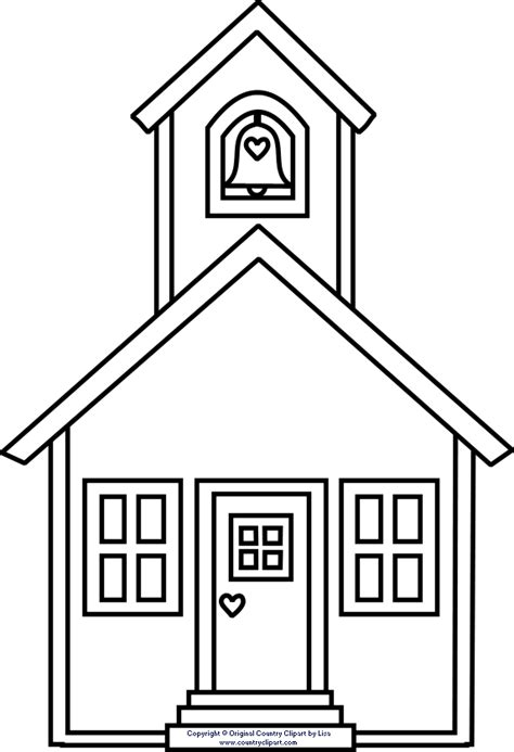free coloring pages of school houses school house clipart clipart best