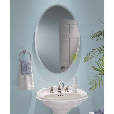 Medicine Cabinets   Oval Frameless Bathroom Medicine