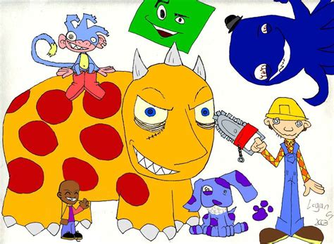 Nick Jr gone wrong  by shway  dude on DeviantArt