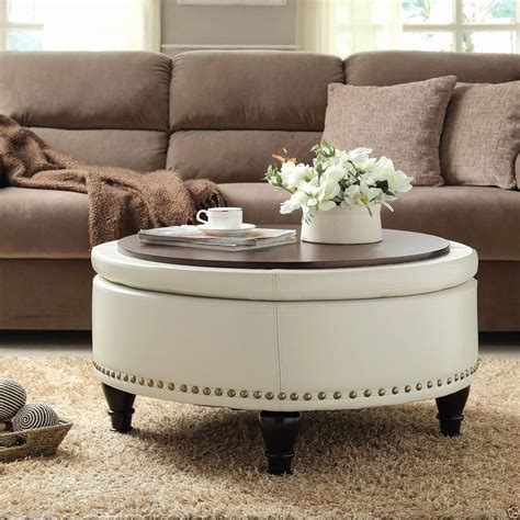 brown leather coffee table brown leather ottoman coffee table thefoxy