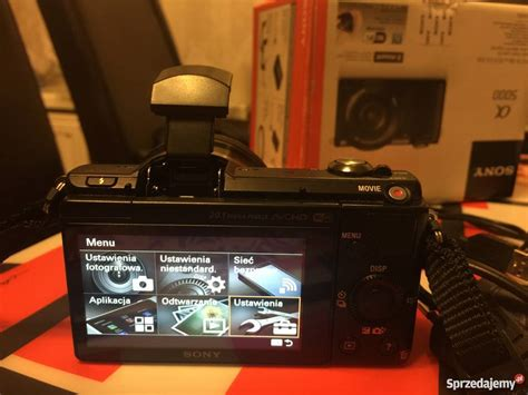 Sony Alpha Ilce A5000 L 1650 Black Kamera aparat sony alpha a5000 16 50mm ilce 5000l gwarancja 12