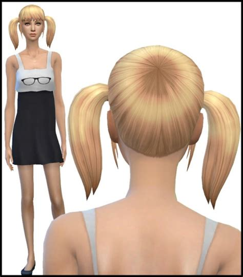 pigtails hair sims 4 sims 4 hairs simista new pigtail hair mesh