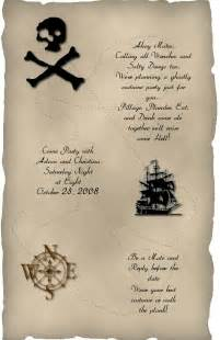 invitation wording pirate theme cards