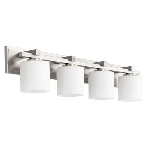 Quorum Lighting Satin Nickel Bathroom Light 5369 4 65 Satin Nickel Bathroom Lights