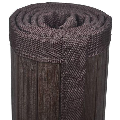 tappeto bagno marrone tappeto da bagno in bamboo 60 x 90 cm marrone scuro