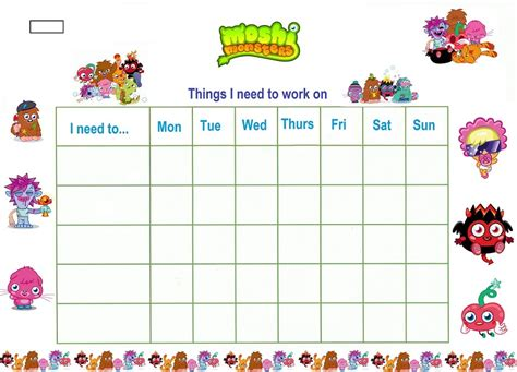 Reward Chart Template For Kids Kiddo Shelter Reward Chart Template