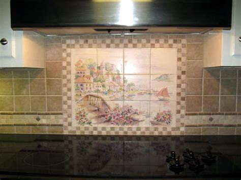 kitchen tile backsplash murals kitchen ceramic tile mural backsplash studio design