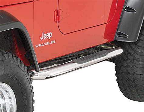 rugged ridge side steps rugged ridge side step bars for 87 95 jeep wrangler yj