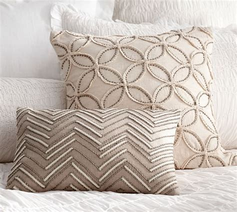 pottery barn sofa pillows embellished beaded pillow covers pottery barn