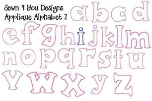 applique letters template sewn 4 you designs applique embroidery designs
