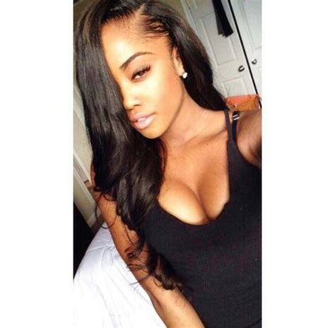 weave with side parts side part sew in hair slayed slayyed hair