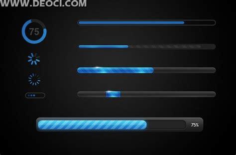 ddo ui layout load ui progress bar loading icon design elements layered