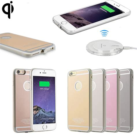 qi wireless charging receiver charger gel back for apple iphone 6 7 8 plus ebay