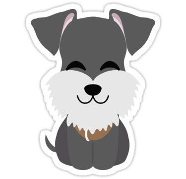 """schnauzer dog emoji cheerful with joy look"" stickers by"