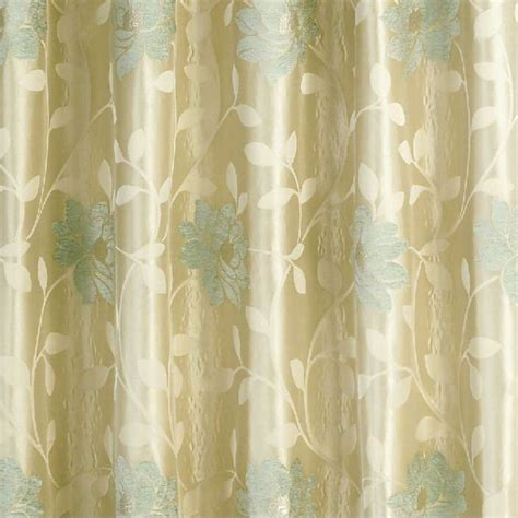 floral duck egg curtains sundour carnaby duck egg floral pencil pleat ready made