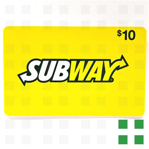 Gift Card Self Checkout - subway gift card 10 frosted leaf colfax