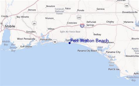 ft walton florida map fort walton surf forecast and surf reports florida