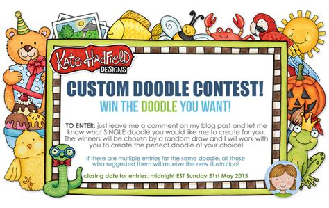doodle competition india 2015 custom doodle contest take two kate hadfield designs