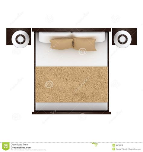 Kitchen Design Floor Plan by Bed Top View Stock Illustration Image 45798810