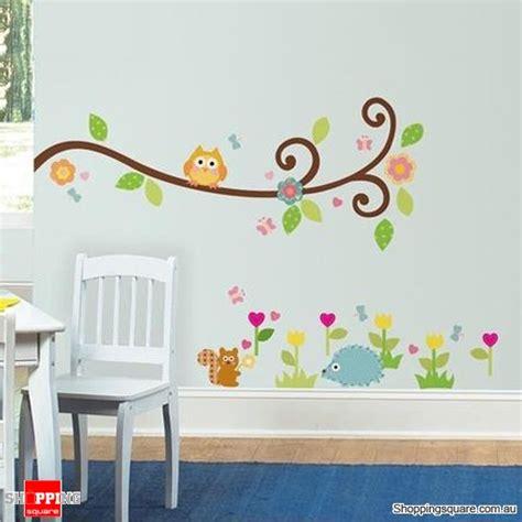 Owl Bedroom Decor Kids owl tree art decal removable vinyl stickers kids bedroom