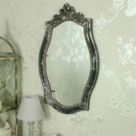 ornate vintage grey ribbon wall mirror melody maison 174