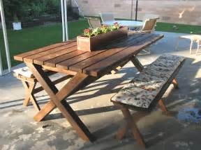 Ana White Ashley S X Bench For X Picnic Table Diy Projects
