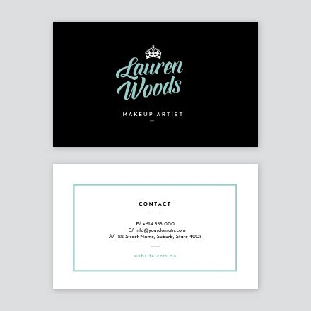 girly business card templates modern girly business card