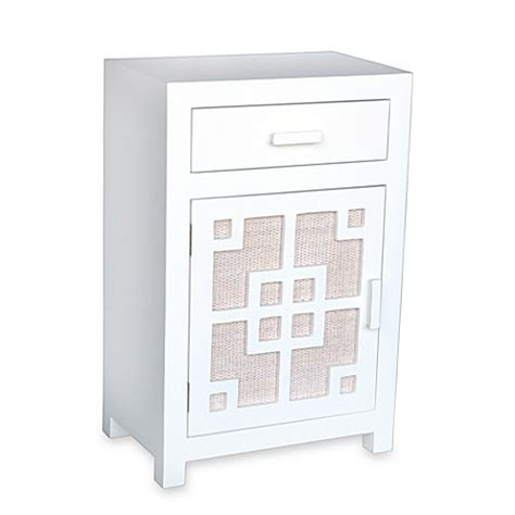 bed bath and beyond nightstand buy jeffan international tatum nightstand table with drawer and cabinet from bed bath