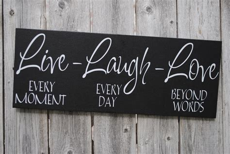 home decor sign live laugh love 6x18 wood sign home decor sign by
