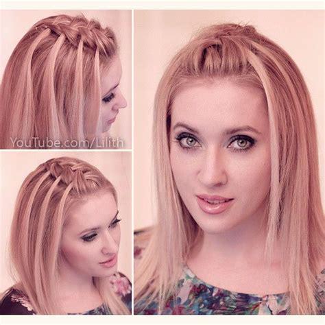 lilith moon hair tutorials criss cross waterfall braid tutorial by lilith moon https