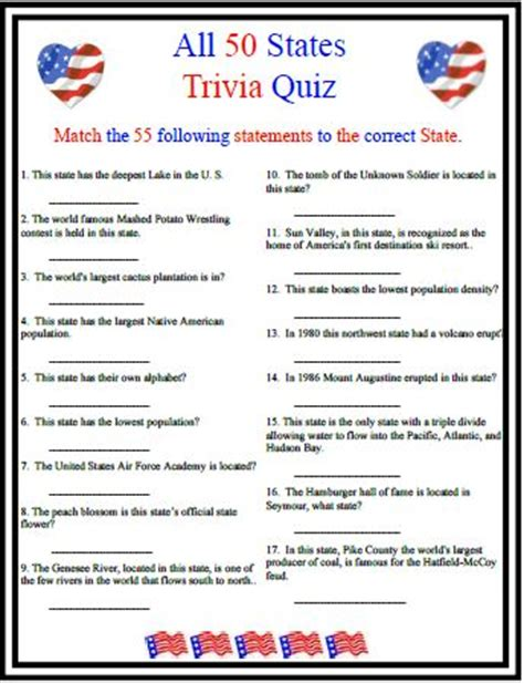 this american trivia quiz touches on many different areas