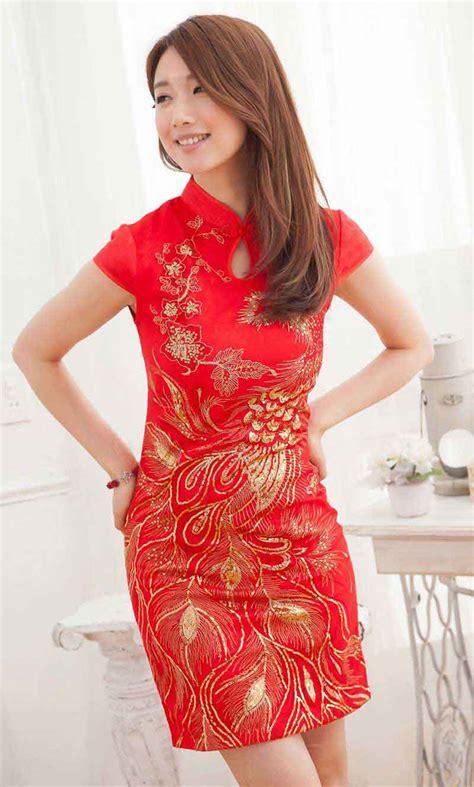 Mutan Cheongsam Dress Cina Imlek Merah dress cheongsam merah modern terbaru model terbaru