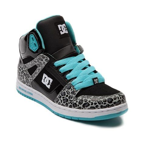 8296 Kid Blue shop for womens dc rebound hi skate shoe in black aqua