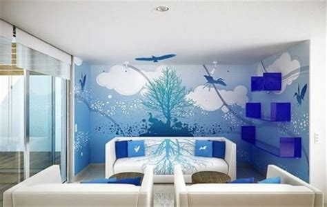 modern interior design with fresco wall murals inspired by decorative wall painting techniques home furniture