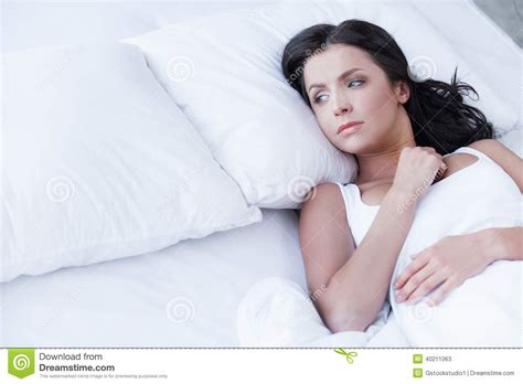 how to be good in bed for women loneliness stock photo image 40211063