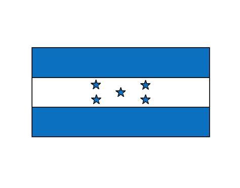 la bandera de honduras para colorear dibujo de honduras pintado por federicci en dibujos net el