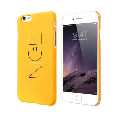 kisscase smile for iphone 6 s 7 plus cover yellow lovely smile