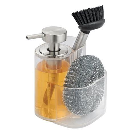 interdesign midi kitchen soap dispenser sponge and scrubby