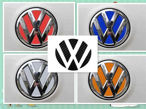Vw Emblem Aufkleber Schwarz by 2 Vw Volkswagen Logo Kohlefaser Reflektierende Folie