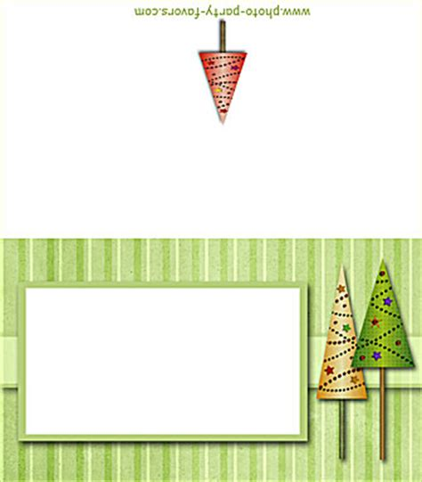 free printable christmas tree place cards free printable folding christmas trees place cards buffet