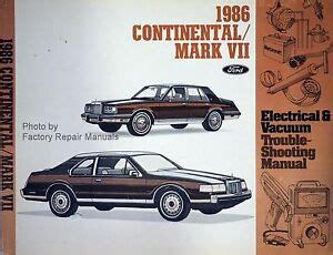1987 lincoln continental and mark vii electrical troubleshooting manual original ebay 1986 lincoln continental and mark vii electrical vacuum troubleshooting manual ebay