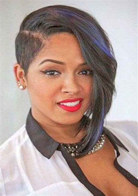 stunning short asymmetrical haircuts  black women