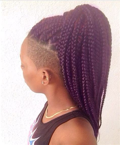 my next hairstyle cornrows with shaved sides and back natural hair protective style side shave box braids