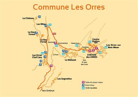 Plans et Accés Location de chalets aux Orres