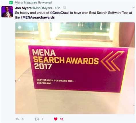 Best Search Program Deepcrawl Awarded Mena Best Search Software Tool 2017 Deepcrawl
