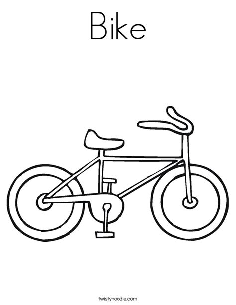 bike coloring pages bike coloring page twisty noodle